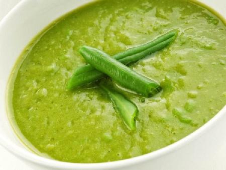 Пюре от зелен фасул - гарнитура за бяло месо и риба - снимка на рецептата